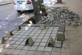 Arreglan contra piso, colocan mosaicos y sellado de juntas