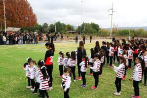 El acto contó con la presencia del gobernador Sergio Uñac, el intendente de Rivadavia Fabián Martín, el secretario de Deportes Jorge Chica, entre más funcionarios