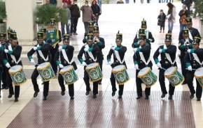 La banda de música del DIM 22 interpretó distintos temas y marchas militares