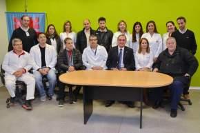 Integrantes del Equipo de Trasplantes con el ministro de Salud, Castor Sánchez Hidalgo