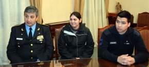 El jefe de Policía y los dos agentes que fueron reconocidos