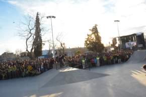 Pista de skate en Capital, en plaza Martín Fierro