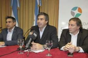 Intendente Franco Aranda, Interventor de la Obra Social Provincia, Dr. Javier González