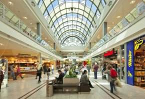 Sector del centro comercial ya vacío