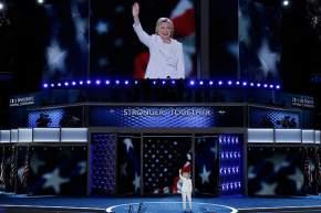 Hillary Clinton, de 68 años, aceptó esta noche la candidatura por parte del Partido Demócrata a presidente de EE.UU.