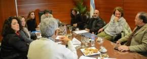 Con el ministro de Desarrollo Humano y Promoción Social, Walberto Allende, se reunieron los representantes de la organización de