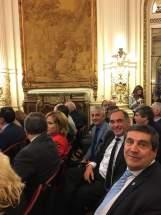 El ministro de Salud Pública de San Juan, en el acto donde Macri anunció la nueva cobertura de salud