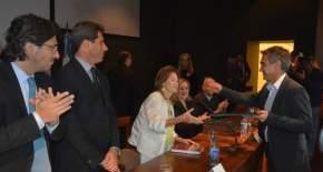 Los funcionarios nacionales fueron declarados Huéspedes de Honor por la Municipalidad de la Capital