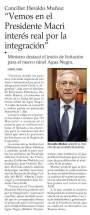 Declaraciones del Canciller de Chile (publicado en El Mercurio, 16/10/2016)