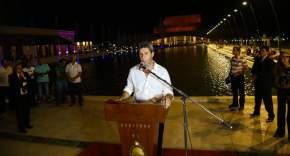 Habla el gobernador Uñac en la inauguración de la Plaza del Bicentenario de la Independencia