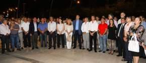 Autoridades en la inaguración de la Plaza del Bicentenario de la Independencia