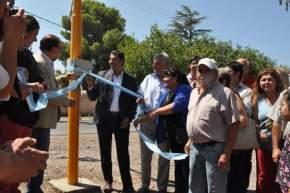 Intendentes de Rawson y Pocito, J.C.Gioja y F.Aballay, respectivamente, inauguraron el sistema de semáforos