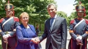 Bachelet y Macri en el acto por el Bicentenario de la Batalla de Chacabuco y el hito del Cruce de Los Andes