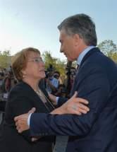 La presidenta de Chile recibe a su par de Argentina