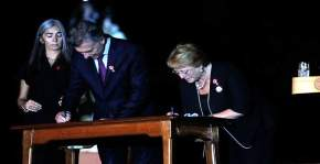 Macri y Bachelet firmaron la Declaración de Chacabuco