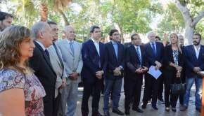 Autoridades presentes del Ejecutivo y Poder Judicial