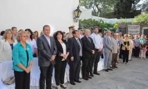 Autoridades en el 206º aniversario del natalicio de Domingo F. Sarmiento