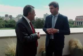 Los gobernadores Sergio Uñac y Alfredo Cornejo