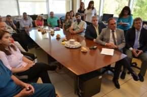 Videoconferencia desde la sala del INCUCAI del Ministerio de Salud de la Nación