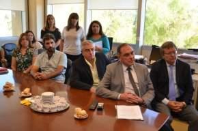 El ministro Castor Sánchez participó de la videoconferencia desde la sala del INCUCAI del Ministerio de Salud de la Nación