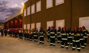 El personal participó en la inauguración del nuevo edificio del Departamento Bomberos