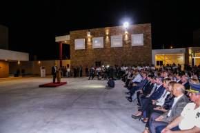 Habla el gobernador Uñac en la inauguración del nuevo edificio del Departamento Bomberos