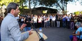 El gobernador Uñac inauguró obras en Rawson de pavimentación y cloacas