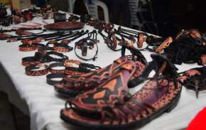 Artesanías que se exponen en la Feria Bicentenaria