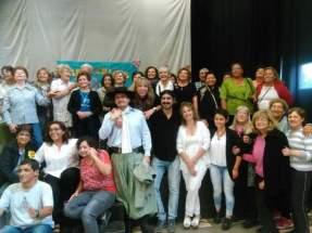 Dirección de Políticas para el Adulto Mayor, visitó el Departamento Jáchal presentando talleres de Coro, Folklore y Teatro