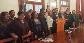 Ladrilleros con el gobernador Uñac