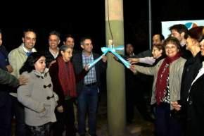 La nueva iluminación está en calle Colombia entre Av. Rawson y calle América del Sur