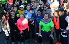 Autoridades de la Municipalidad de la Ciudad de San Juan en el Zumbathón 2017