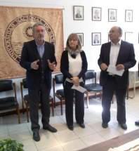 El Decano de la FCEFN, Rodolfo Bloch, puso en funciones a los nuevos secretarios, Nancy Alonso, en la Secretaría Académica y Horacio Puigdomenech, en la Secretaría Técnica