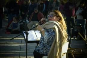Cerrando la jornada Claudia Pirán brindó un espectáculo musical
