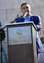 Acto en la Plaza Juan Jufré