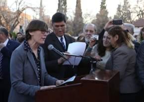 La presidenta de la unión vecinal, Natividad Guerrero agradeció la concreción de la obra