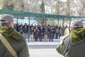 Desfile de los efectivos por el 79 aniversario de Gendarmería Nacional