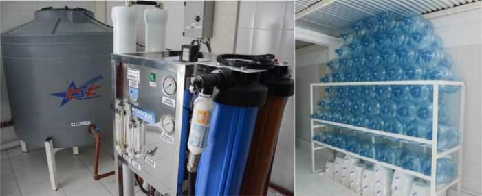 Planta de tratamiento y envasado de agua en Mogna