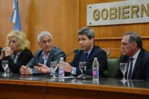 Tras el agradecimiento del intendente Juan Carlos Quiroga Moyano, habló el gobernador Sergio Uñac