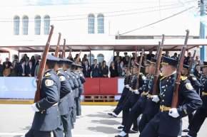Desfile cívico militar en Albardón
