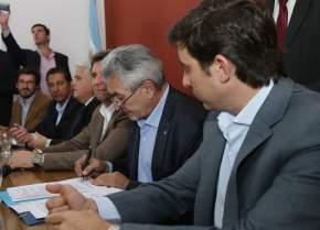 Firmaron convenio durante la inauguración de la Agencia de Extensión Rural Pocito del INTA