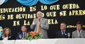 Dirige la palabra el vicegobernador Marcelo Lima, en ejercicio del Poder Ejecutivo de la Provincia