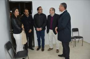 Recorrieron instalaciones del Polideportivo Municipal de Rivadavia