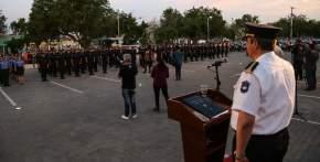 el jefe de Policía tomó el juramente de rigor a los 30 técnicos y 109 diplomados en Seguridad Pública