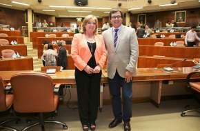 Fueron aprobadas las renuncias de los diputados Cristina López y Rubén Uñac, ambos electos senadores nacionales por San Juan