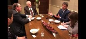 En EE.UU. el gobernador Uñac busca atraer a inversionistas