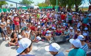 Los chicos participaron de distintas actividades en la apertura de las Colonias de Verano 2018