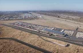 Avances en la obra del futuro autódromo, en Albardón