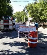Tras rotura de caño de agua repararán el pavimento